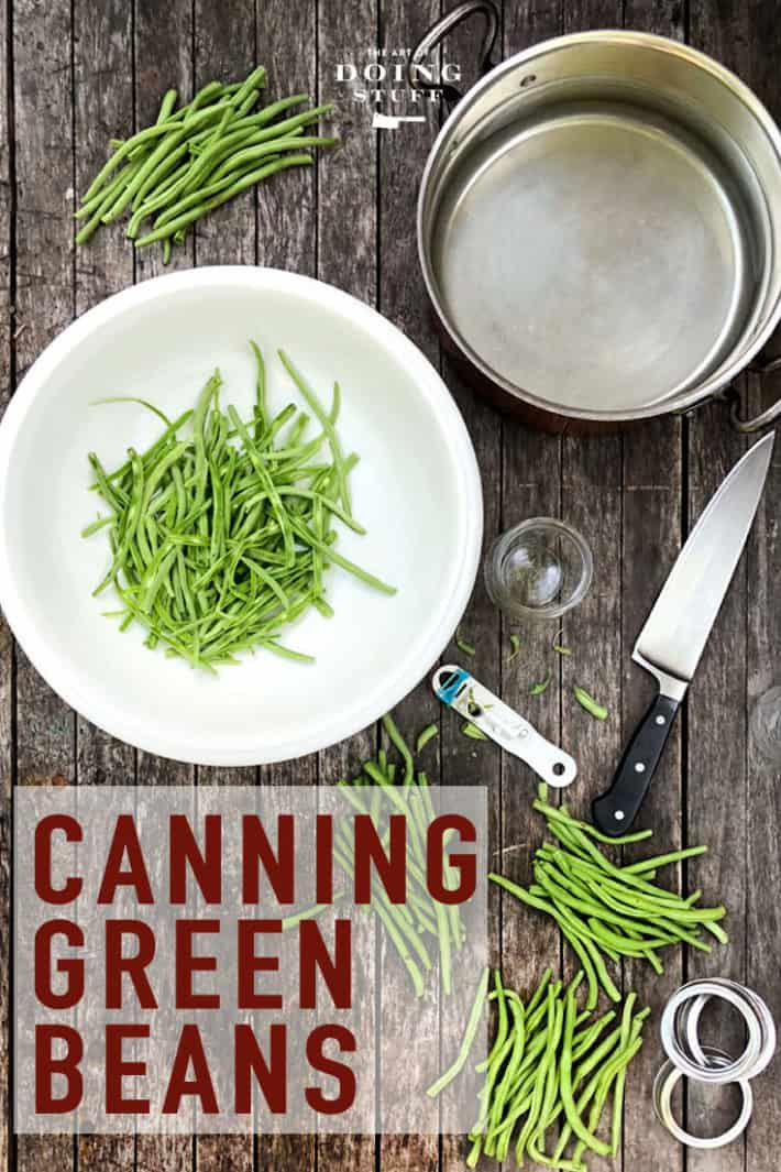 Green beans are about the EASIEST thing you can preserve.  Whether you grow them or find them on sale at the grocery store, follow these 7 easy steps to pressure can them in no time.