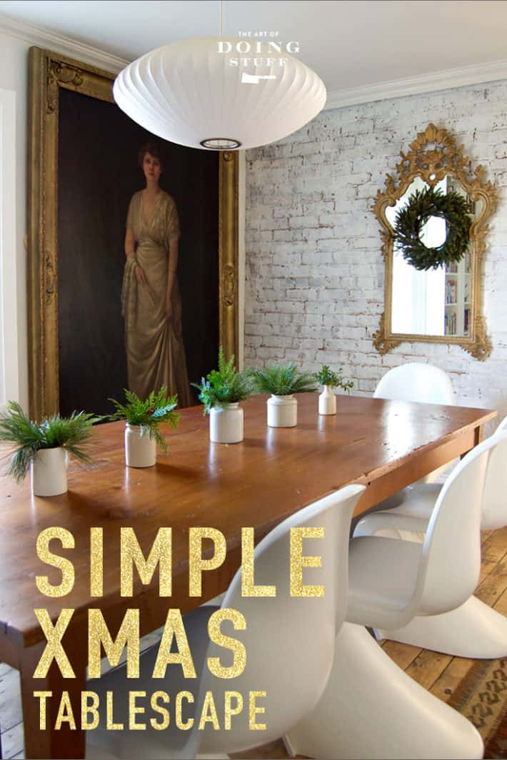 A Beautiful Christmas Tablescape Made with Scraps.