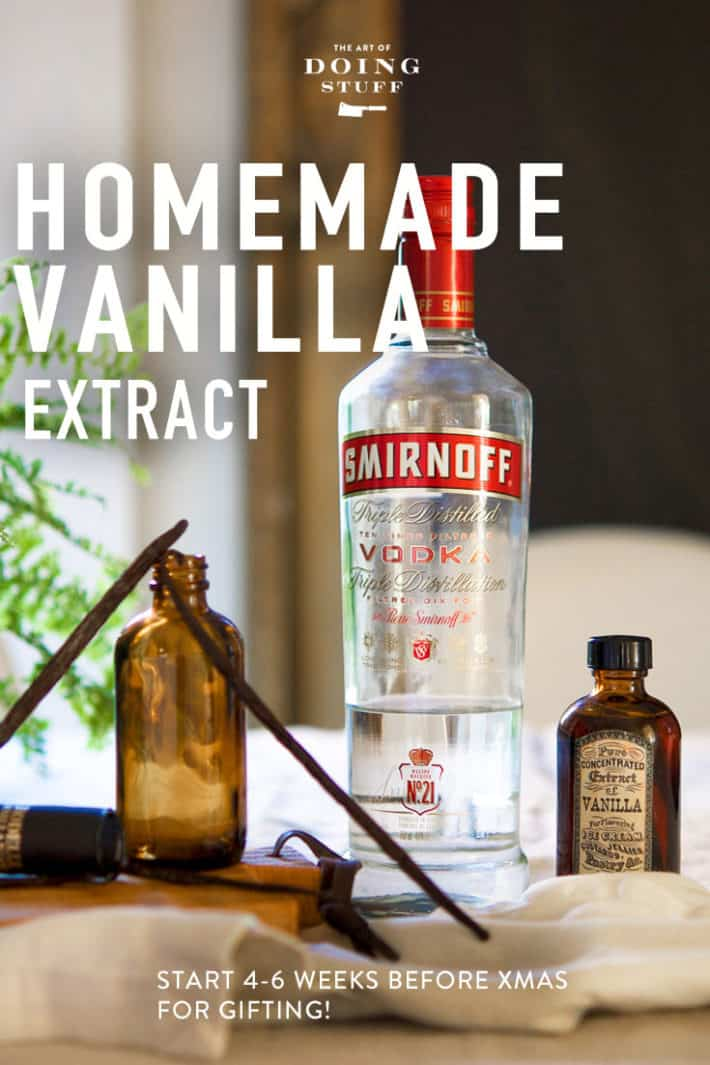 If you want to make homemade vanilla extract for Christmas presents for people NOW is the time to do it! It takes 2 minutes to make and 4-6 weeks to steep. :)
