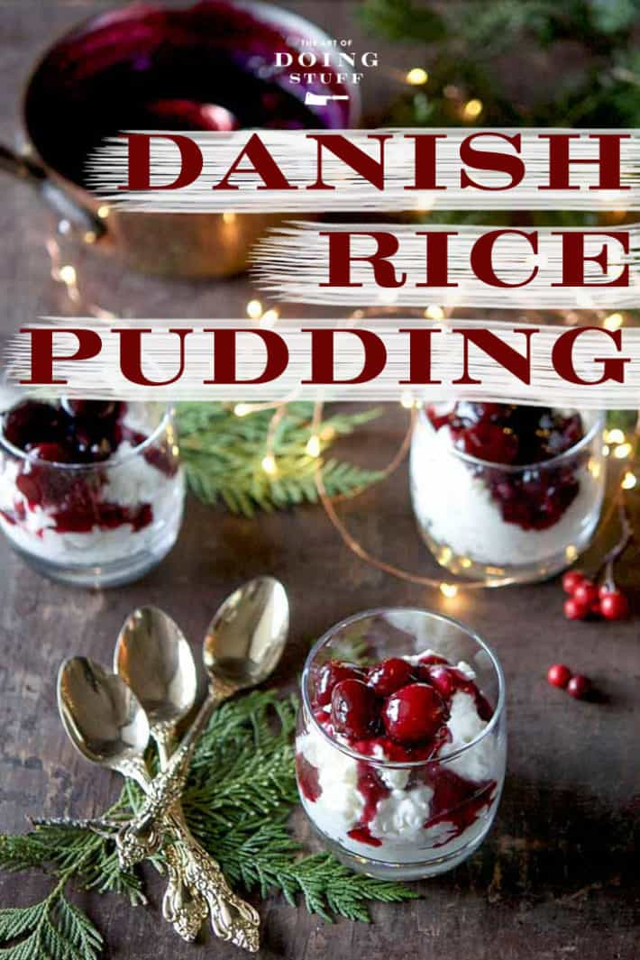 If you like rice pudding, you\'re going to love Risalamande, a fancified Danish version of rice pudding that\'s full of crunchy almonds, velvety whipped cream and topped with a cherry sauce.  With NO calories!!  Providing you just look at it.