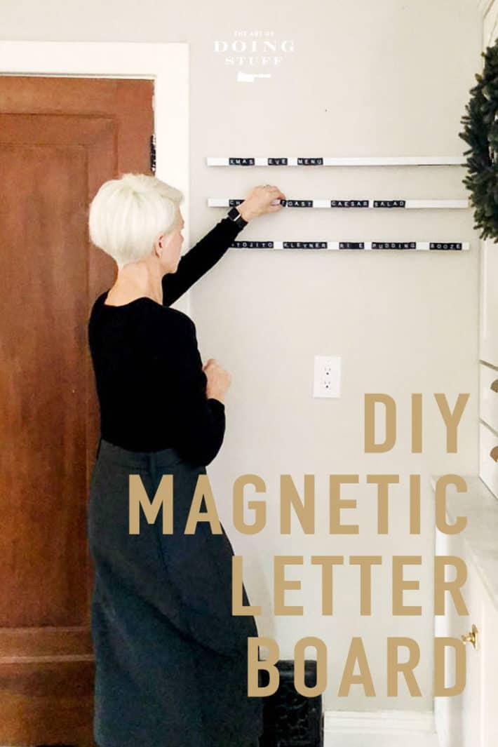 DIY Magnetic Letter Board.