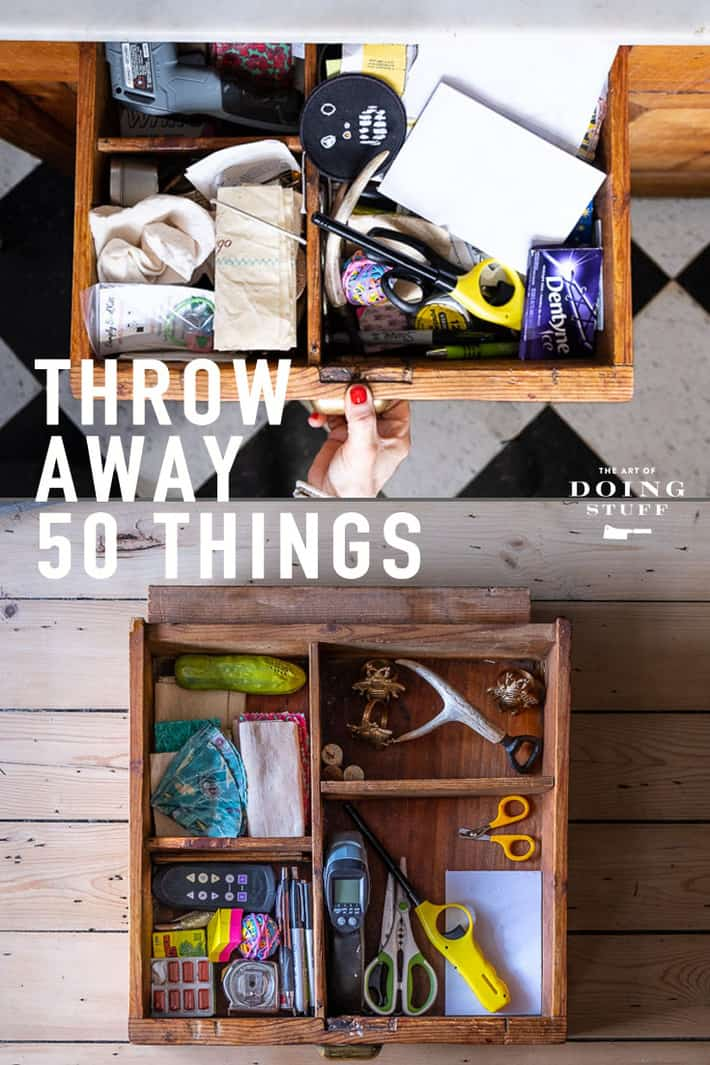 January is Throw Away 50 Things Month! Actually I\'ve only declared it that, but it makes sense. January is the month of purging.