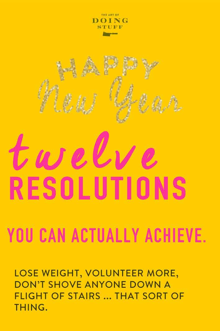 It\'s that time of year! For better or worse you\'re thinking about New Year\'s Resolutions. What are the most popular New Year\'s Resolutions? I have the list right here for you, plus actionable ways to actually make them achievable. ;)