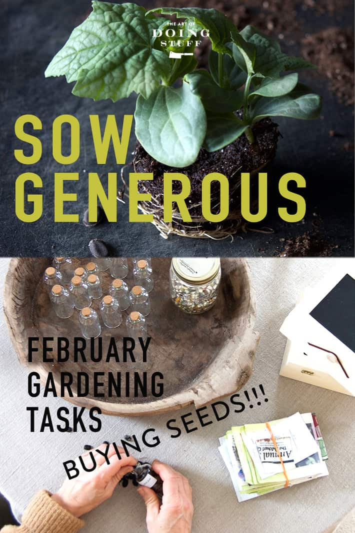 Sow Generous is a vegetable gardening challenge for new and experienced gardeners culminating with donating a portion of our  harvest at the end of the season. It\'s a grow and give garden. :)  February\'s gardening task is ... picking out seeds!  Is there anything more exciting for a vegetable gardener??  I\'ll answer that.  NO.