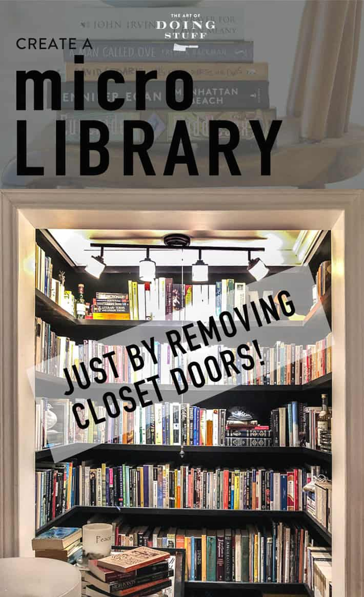 This is the story of how I went to see a medium and she told me my deceased father was with me whenever I gardened. Fun, sure, but the most exciting part of the reading was discovering this micro library in her office! Just a closet with the doors removed and shelves installed. Brilliance!