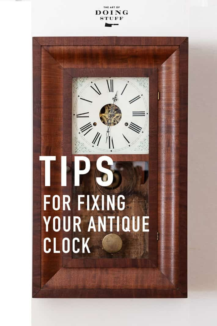 Have an old clock you love but doesn\'t work quite right? Yeah. Me too. So I figured out the basics of fixing them from making them run on time to putting the pendulum back in beat.  Here\'s how ... #diy #clocks #repair
