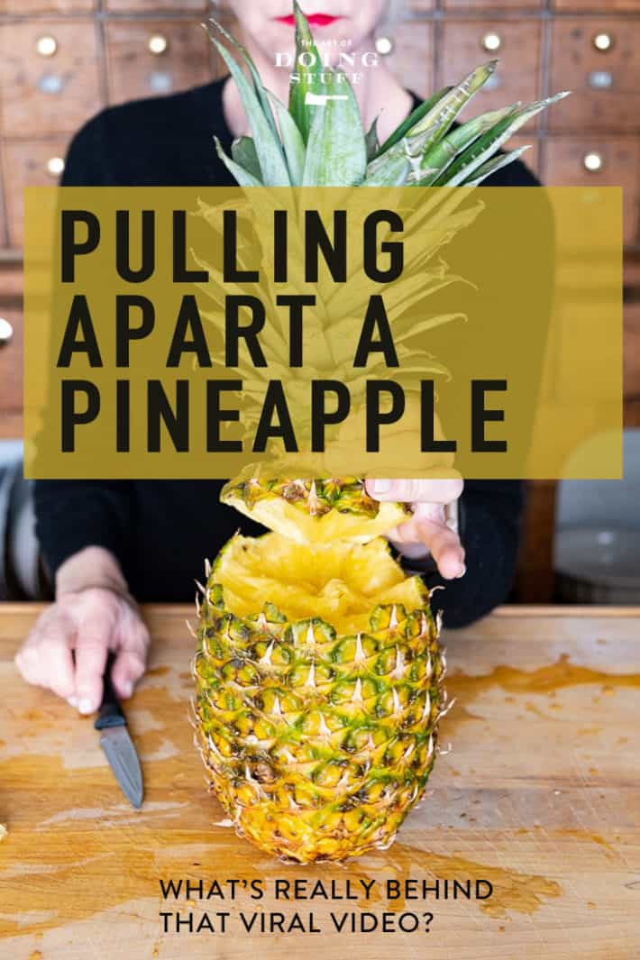 How to Pull Apart a Pineapple.