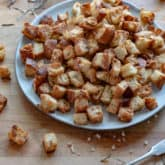 How to Make Crispy, Buttery, Rosemary/Garlic Croutons.
