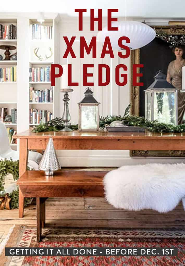 Take the Christmas Pledge! A daily guide to getting alllllll the Christmas crap done by December 1st, leaving the month of December for what it was meant for: Christmas movies, eggnog and family fights.