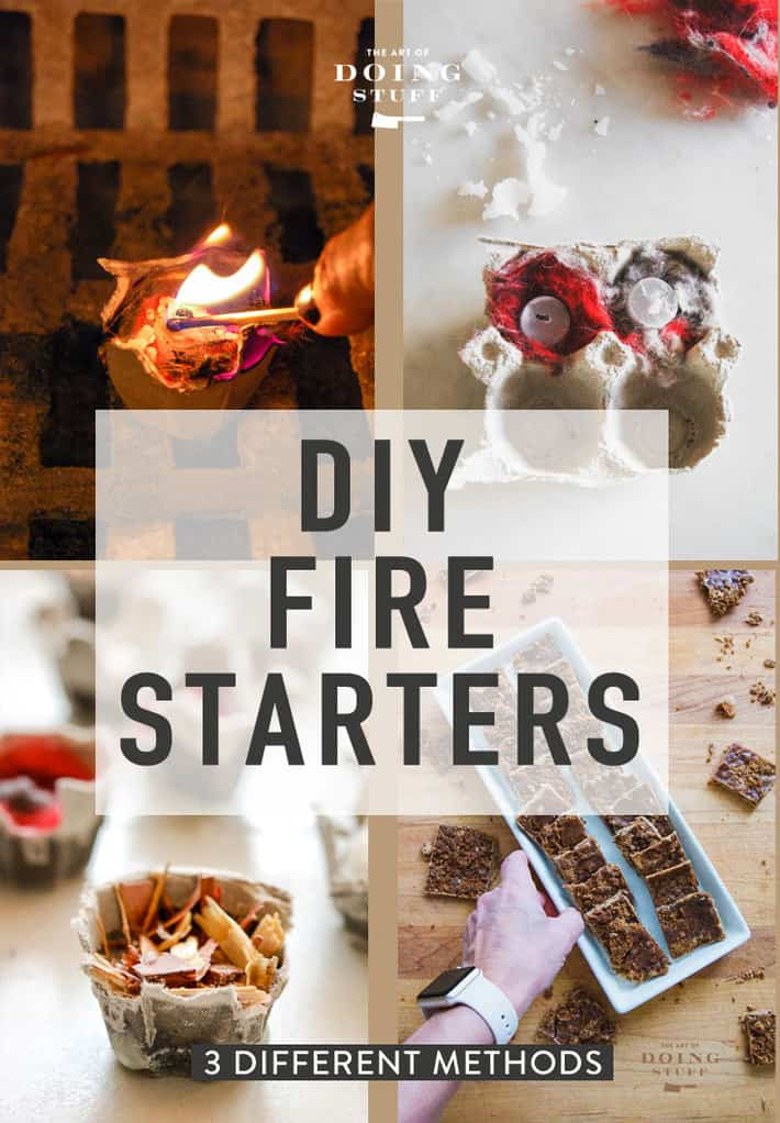 Homemade Fire Starters. 3 Ways to Make Them.