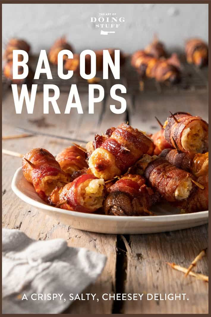 Crispy, smoky bacon wrapped around bread, cheese and other gooey, good stuff. The most delicious holiday appetizer ever.