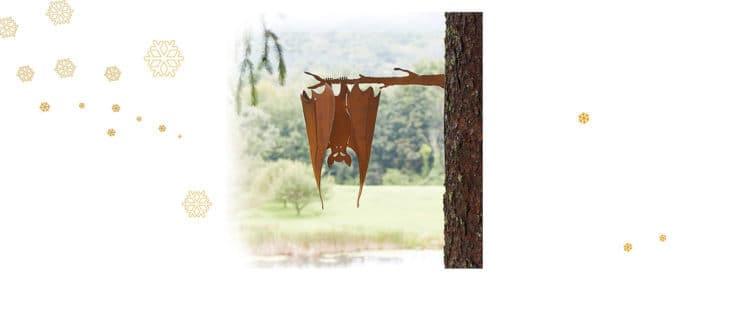 Bat on a Branch Sculpture