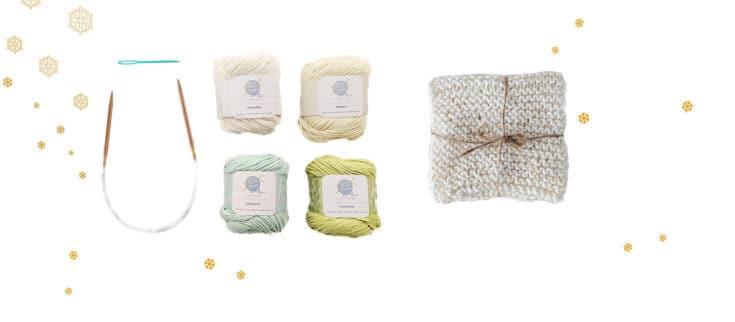 Knitting Kit. 4 X dish cloths.