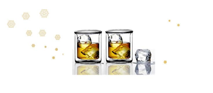 Double Wall Whiskey Glasses