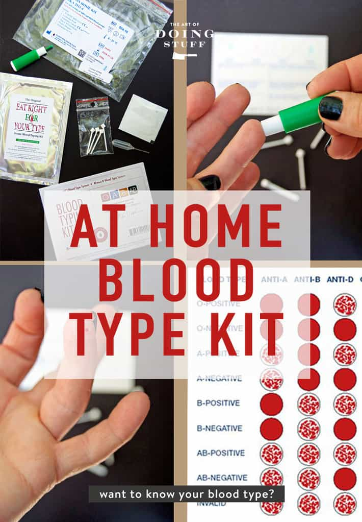 I went my whole life not knowing my blood type. Then one day I became curious, but not curious enough to make an appointment with the Dr. for it. So I bought at at home blood testing kit on Amazon - and it worked. I had the results confirmed. See how it works and get one.