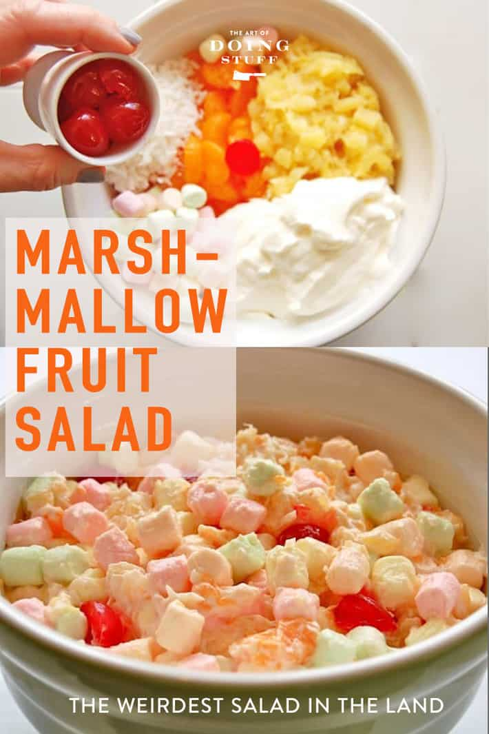 Marshmallow Salad. The Salad That Sounds Like an April Fools' Joke.