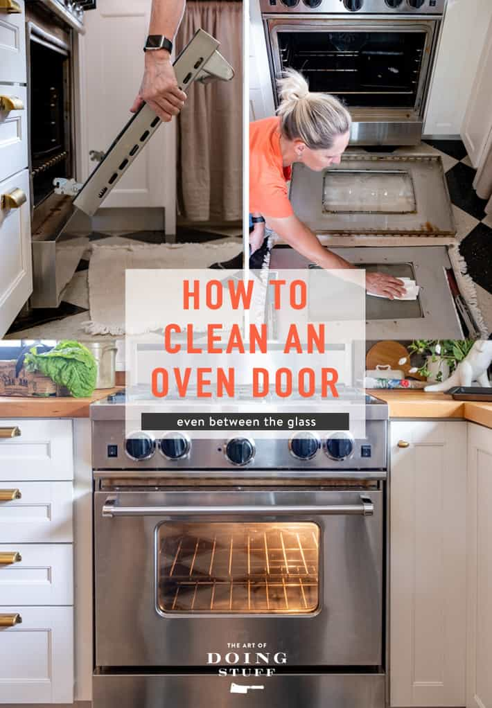 How to Clean Oven Door Glass. (Even In Between)