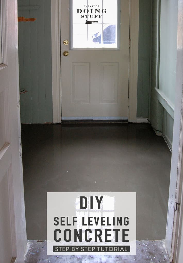 How to Pour Self Leveling Cement.