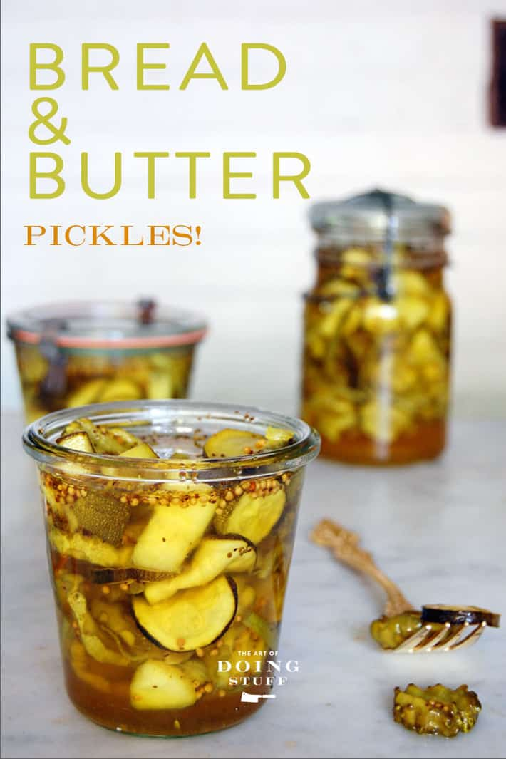 Classic Bread and Butter Pickle Recipe.