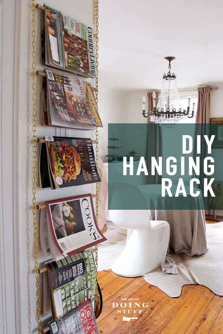 Make a DIY Magazine Rack. Bonus: It\'s NOT ugly.