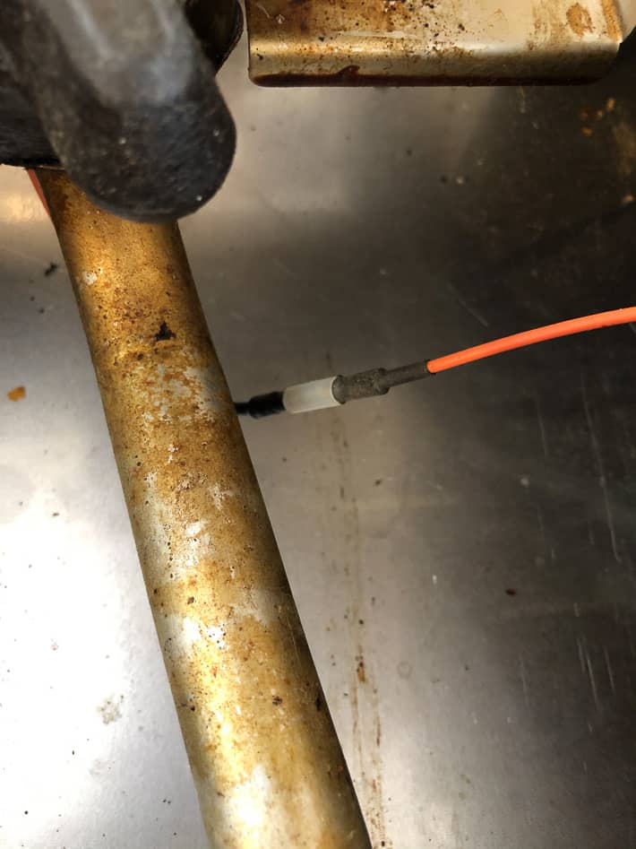 Reconnected wires between newly replaced spark igniter and spark module.