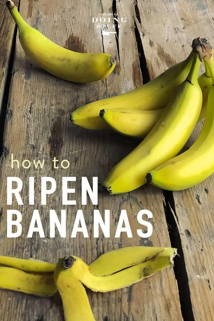 How to Make Bananas Ripen Faster. Or slower!