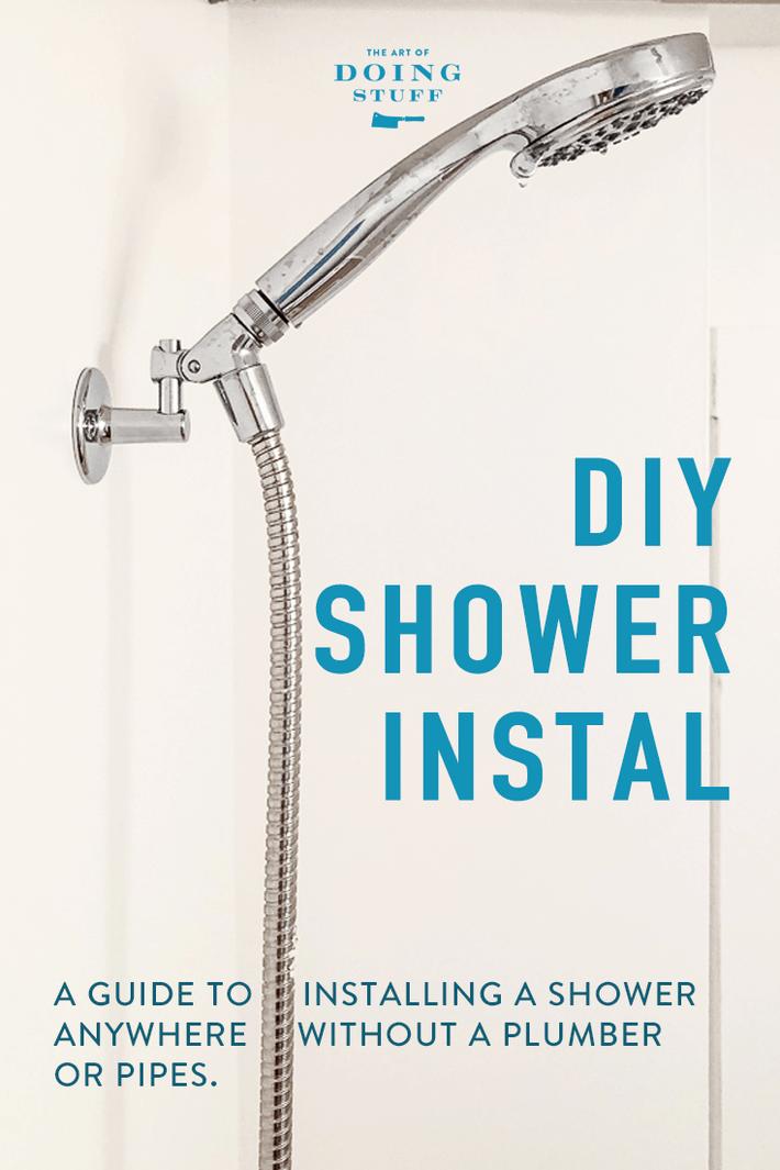 No Shower? No Problem. Install a diverter shower in 1 Hour.