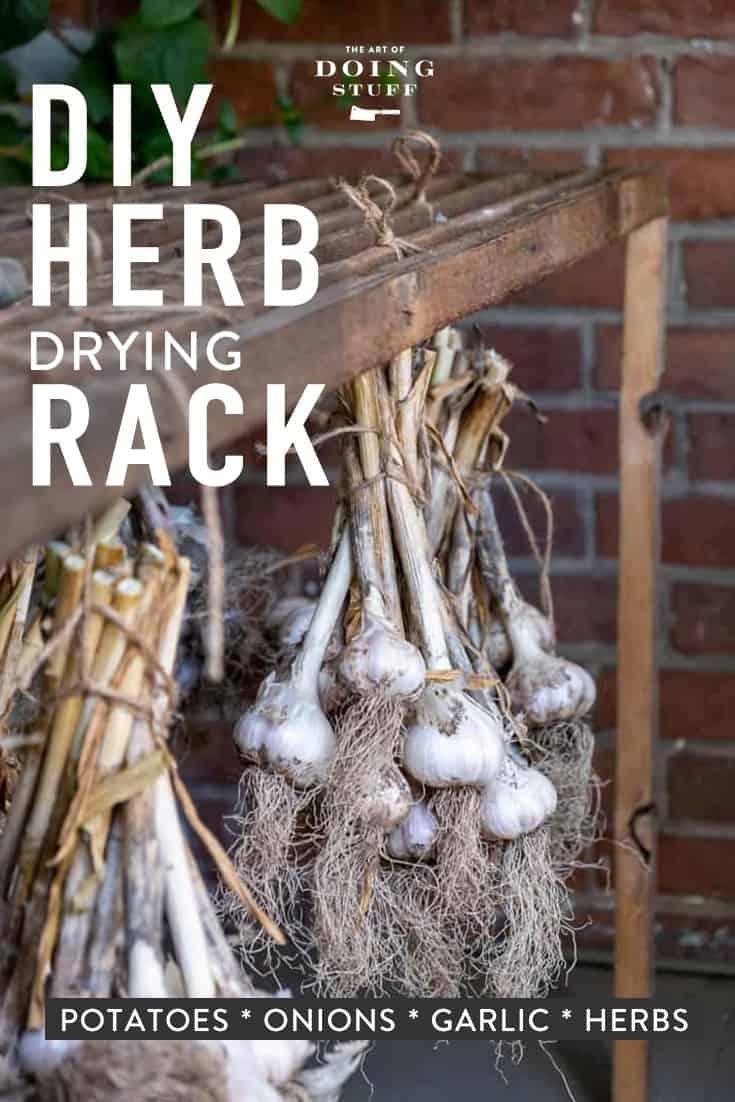A DIY Herb Drying Rack.