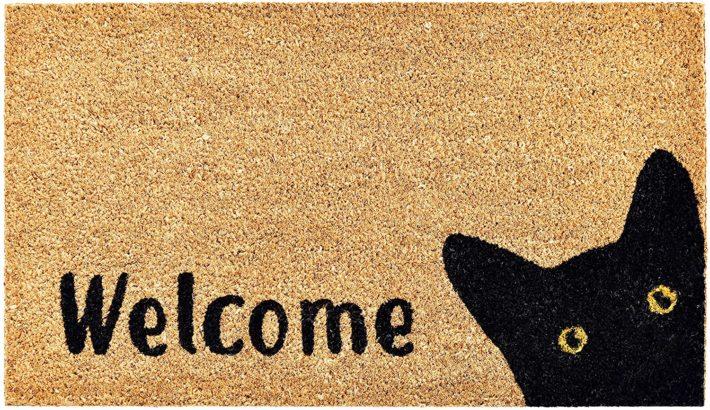 Cat welcome doormat from Amazon