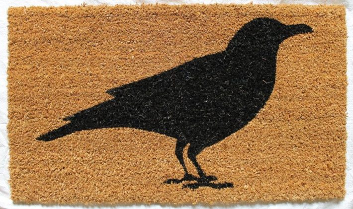 Crow doormat from Amazon
